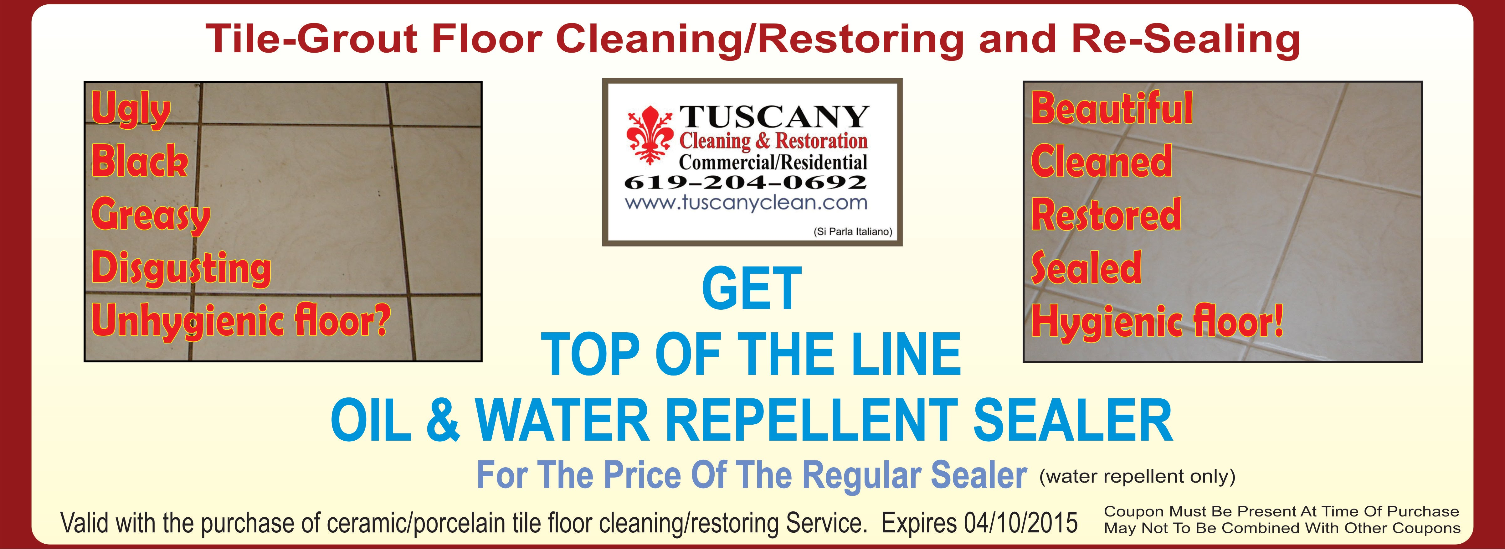 Tile Grout Cleaning Sealing Coupon