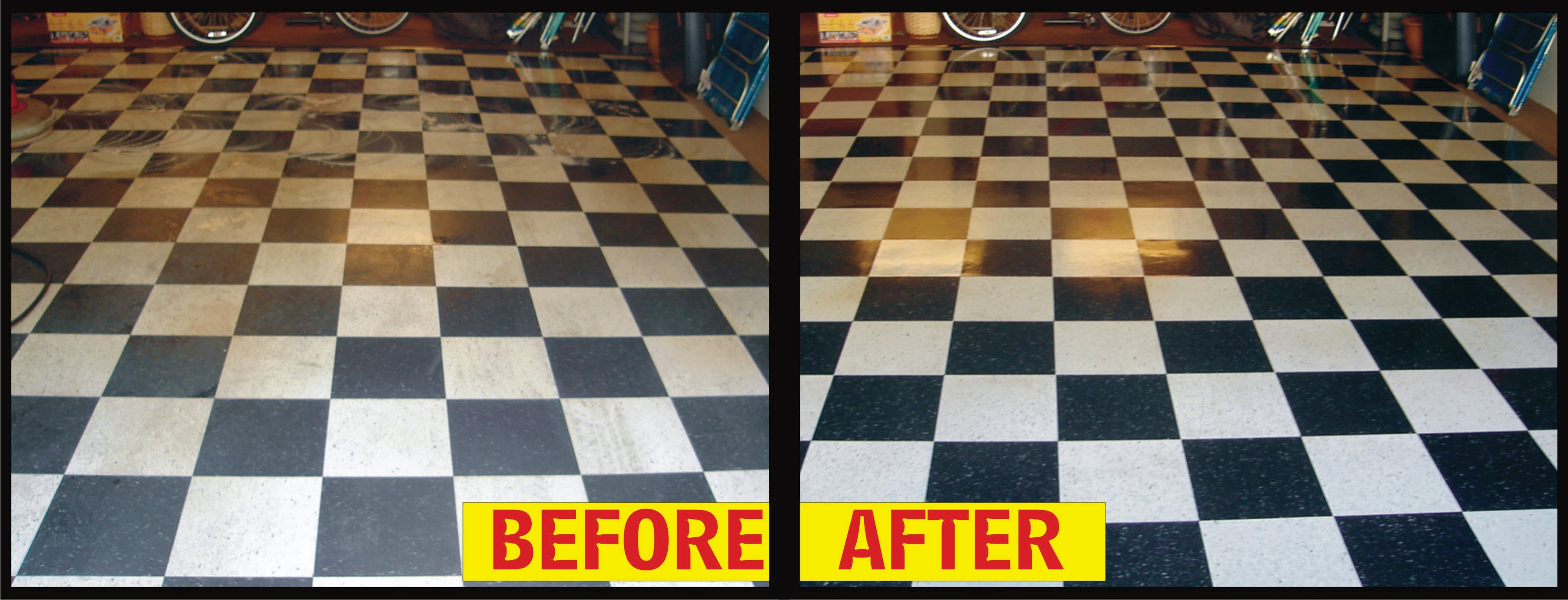 Linoleum Vinyl Clean Waxing Polishing