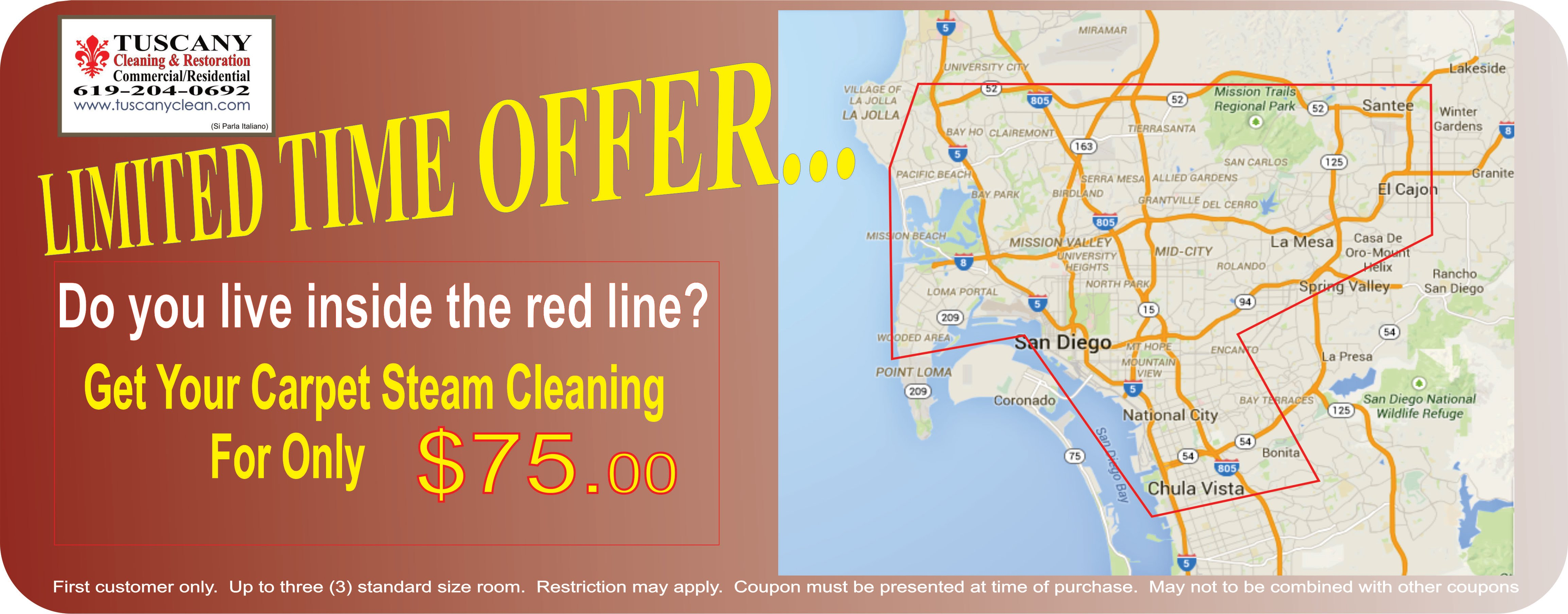 Google Map San Diego Carpet Cleaning service coupon discount offer groupon