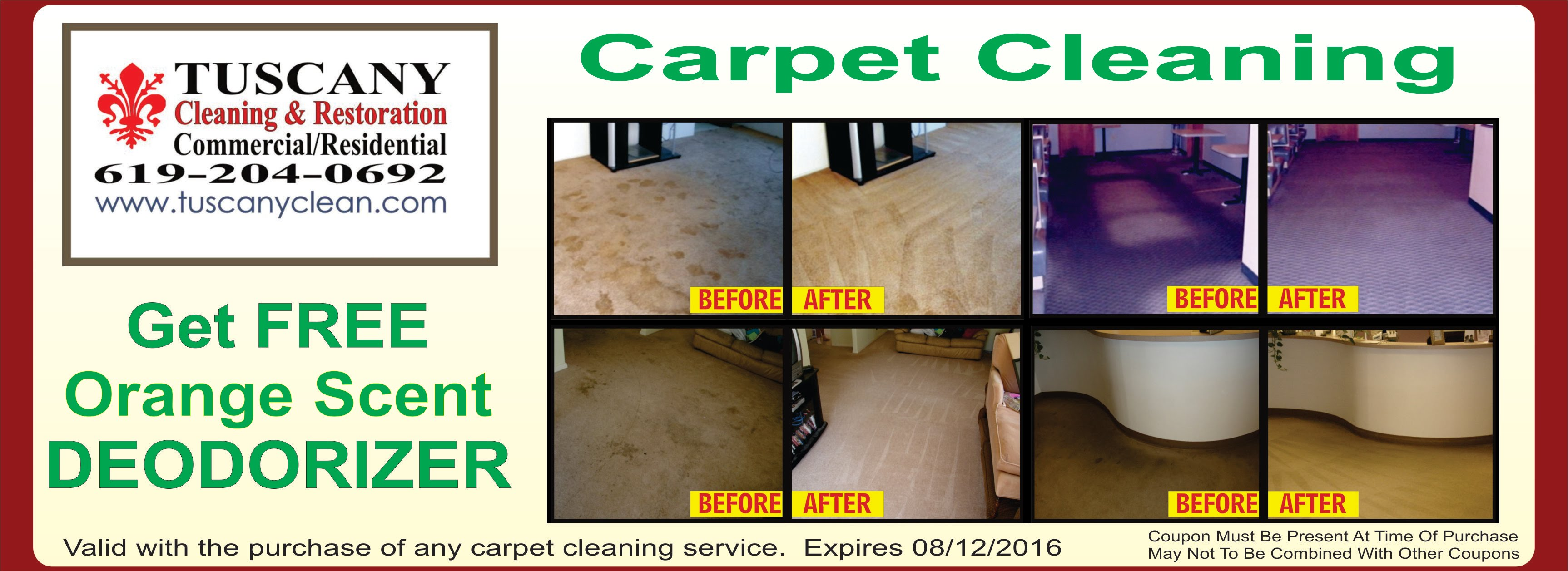 Carpet Cleaning Coupon Special Offer
